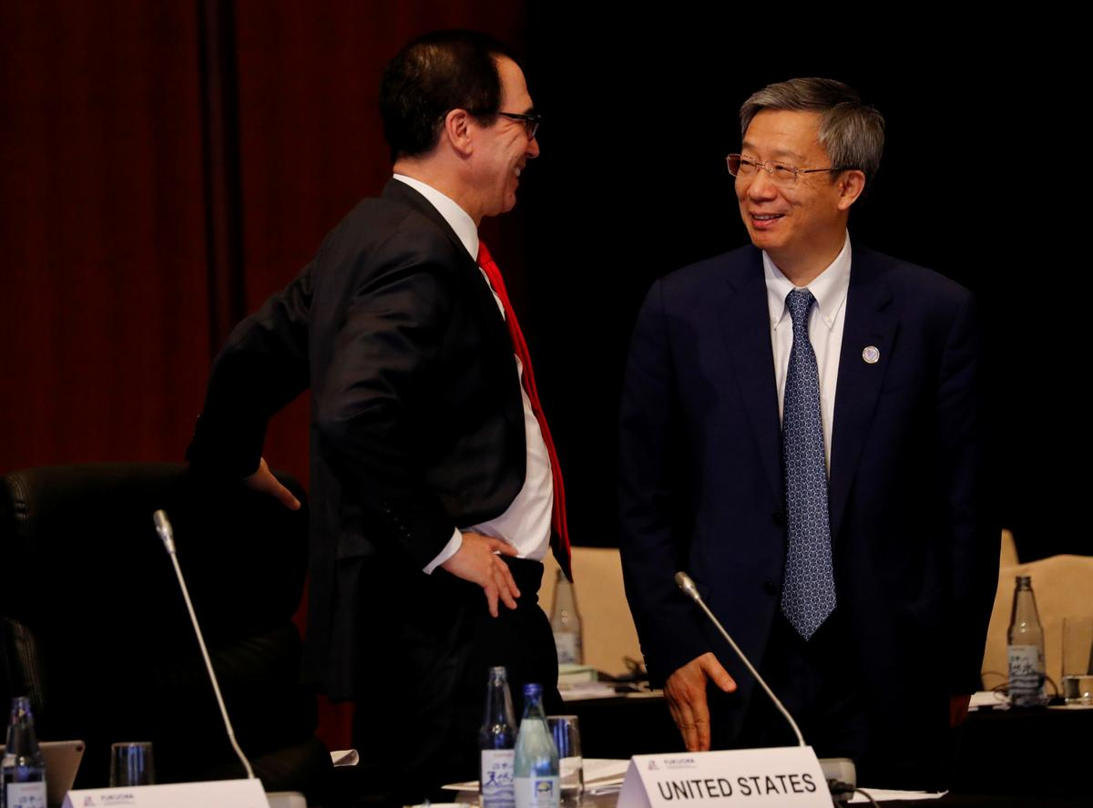 U.S. Treasury's Mnuchin says Trump-Xi meeting has parallels to Buenos Aires summit