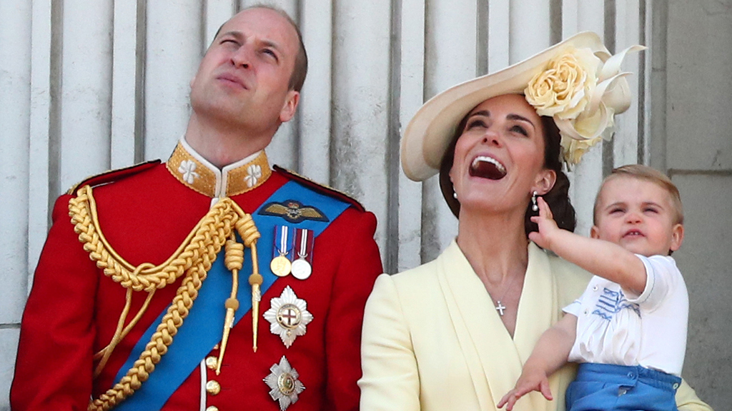 Prince Louis makes Trooping the Colour debut, practices his royal wave