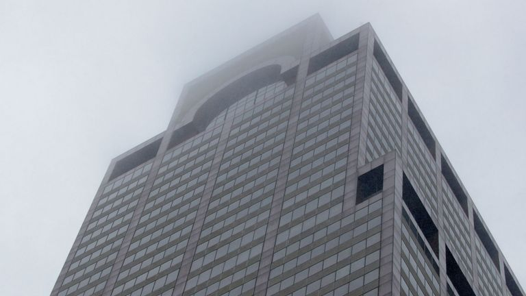 The building in Manhattan where a helicopter crashed