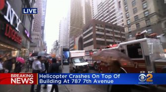 FDNY: Helicopter crashes into building in Manhattan
