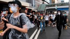 Tear gas fired on protesters in Hong Kong