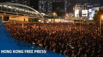 Hong Kong protesters occupy roads around Gov't HQ again, as huge anti-extradition law rally escalates