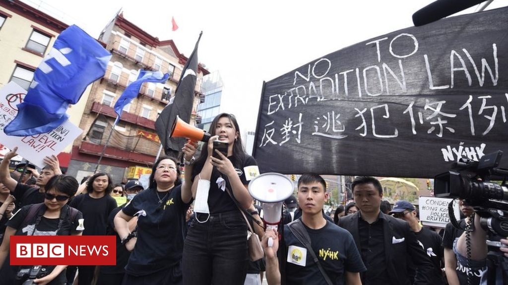Hong Kong protests: How tensions have spread to US