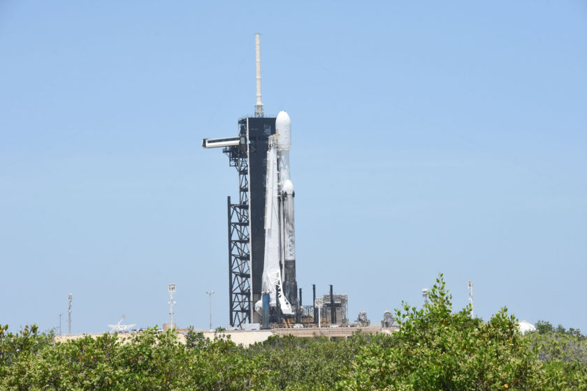 STP-2 with LightSail 2 on the pad, side view