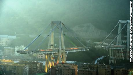 The bridge strapped with explosives on Friday morning.
