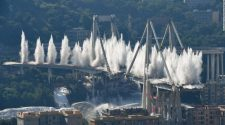 Genoa's Morandi Bridge is destroyed on Friday, June 28, 2019.