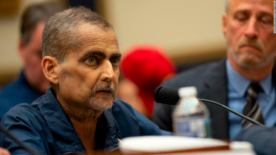 Luis Alvarez, who is about to start his 69th round of chemo on June 12, testifies at a hearing on the 9-11 Victims fund before the Judiciary subcommittee on Capitol Hill in Washington D.C. on June 11, 2019. Credit: Stefani Reynolds / CNP