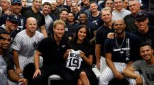 Meghan Markle, Prince Harry meet Yankees and Red Sox at first MLB game in London