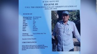 Eugene Jo  had not eaten in at least five days and was drinking water out of a creek, rescuers said.