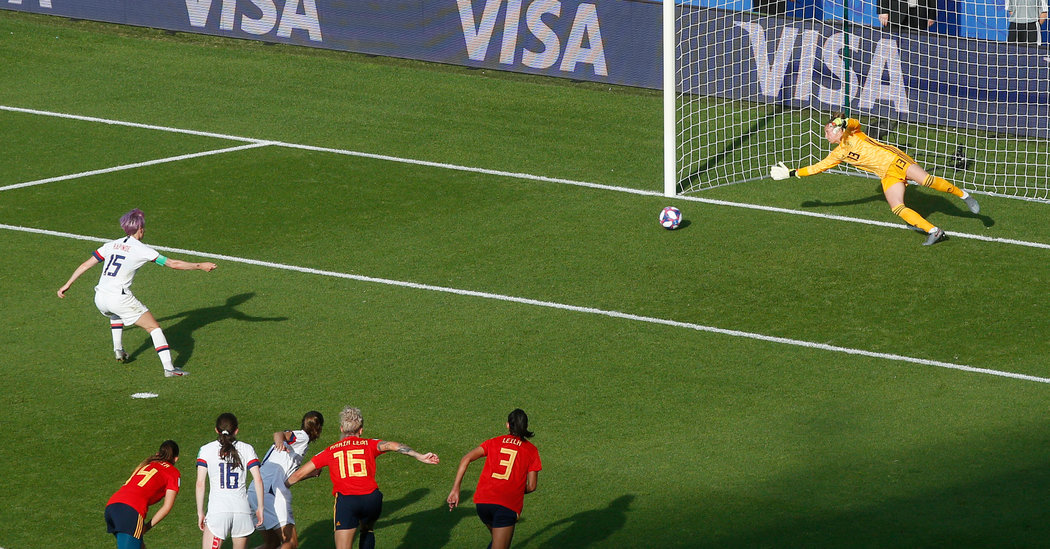 U.S. Holds Off an Ascendant Spain, for Now, at Women's World Cup