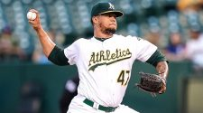 A's Montas suspended 80 games, out for playoffs