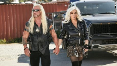 "Duane ""Dog"" Chapman and Beth Chapman in their WGN America series ""Dog's Most Wanted."""