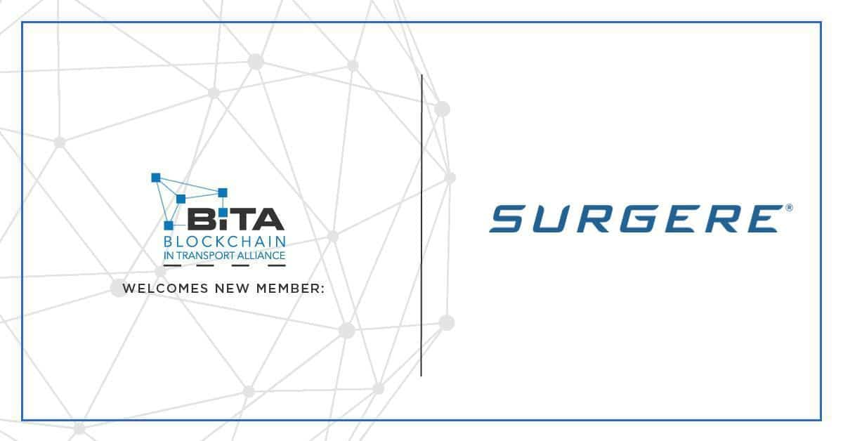 Automotive technology leader Surgere joins Blockchain in Transport Alliance
