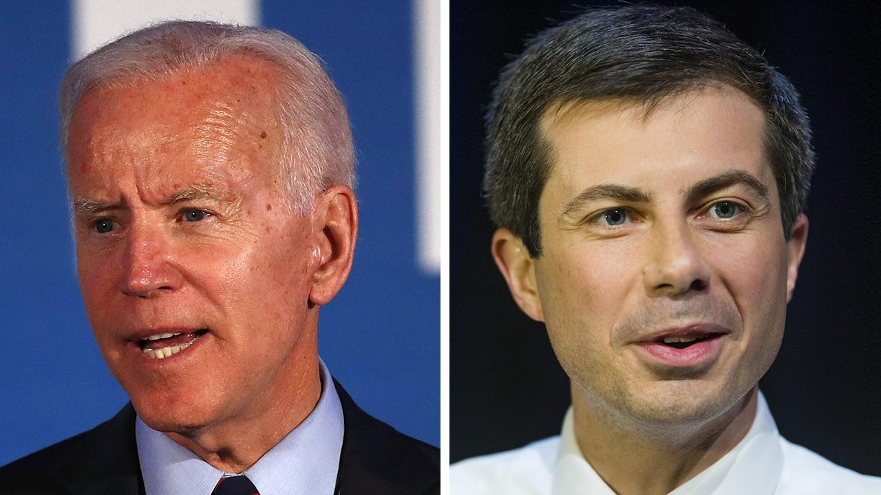 Buttigieg slams Trump, Biden in same remark, then jokes all 2020 Dems should 'carpool'