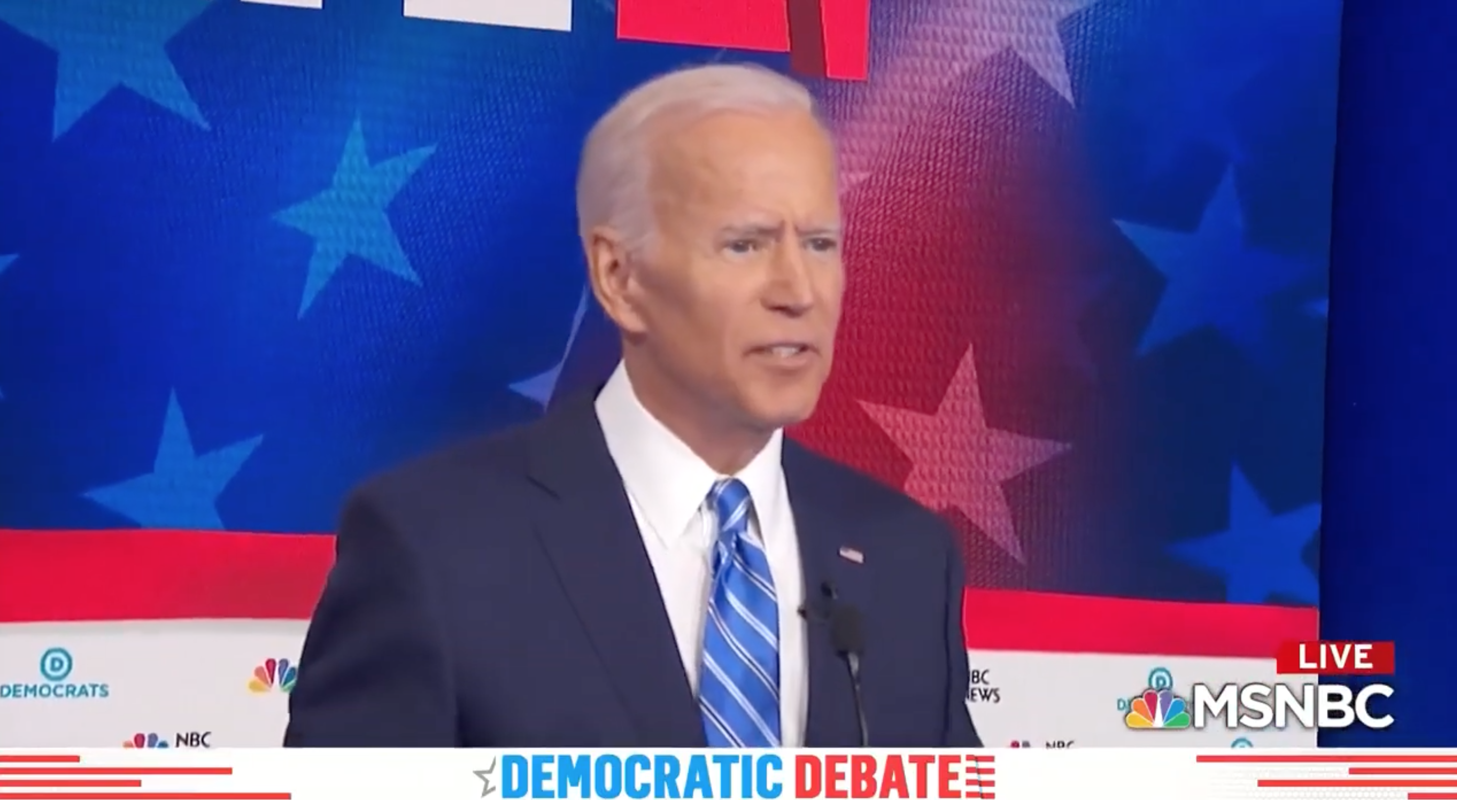 'My time's up, I'm sorry': Biden abruptly ends answer on civil rights record after Harris pummeling
