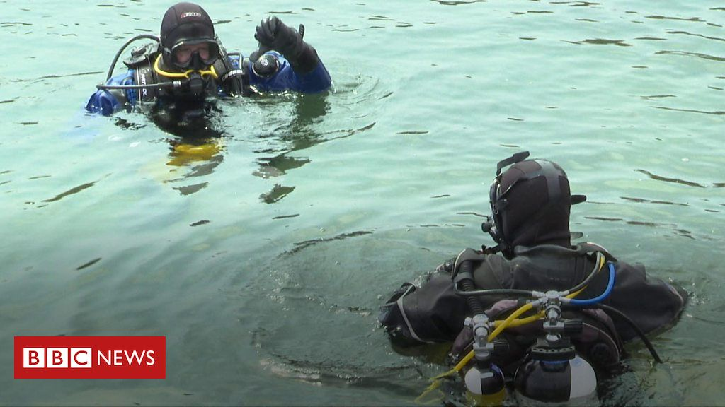 Plastic pollution: Bangor divers cleaning up the seabed