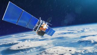 A weather satellite above Earth