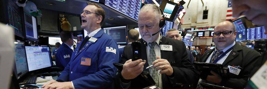 US stocks trade lower on weak Chinese data, chip shares
