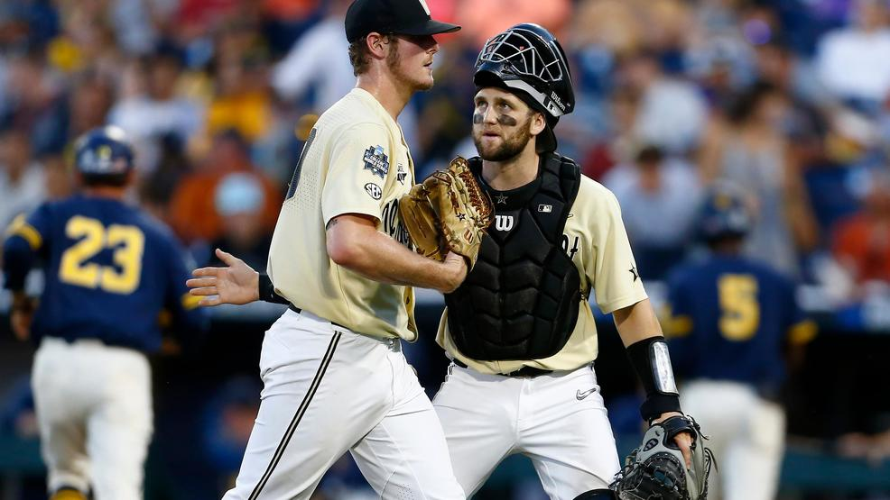 Vanderbilt wins 2nd national title, beating Michigan 8-2 - WZTV
