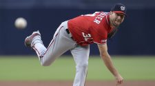 Washington Nationals' Max Scherzer plans to start despite breaking nose during batting practice