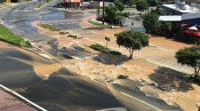 Water main break closes intersection, possibly for up to two days