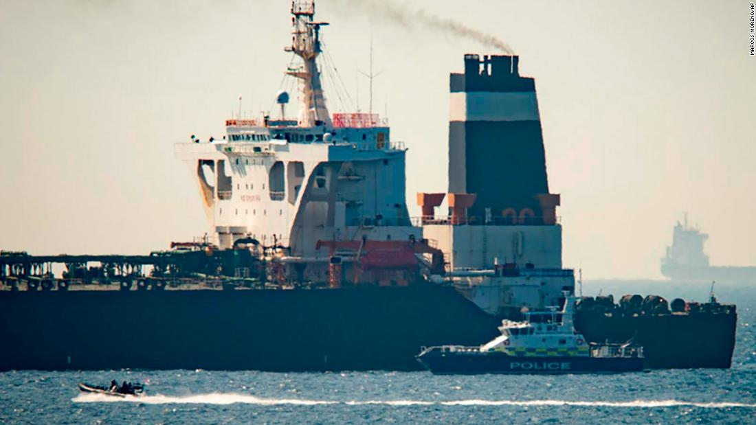 Iranian oil tanker bound for Syria seized by Britain