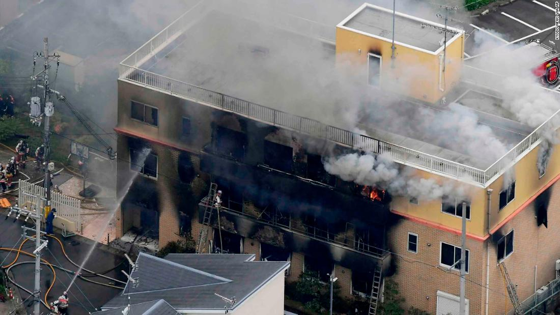 Kyoto animation studio fire: Bodies found piled on staircase