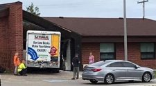 *BREAKING NEWS* U-Haul truck drives into Cochrane OPP building