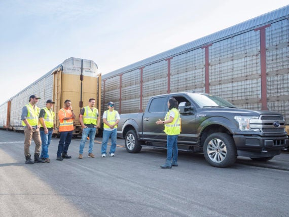 All-Electric F-150 Customers speaking with engineer Source: Ford