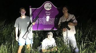 Gun-toting frat brothers pose in front of Emmett Till memorial, may face federal charges