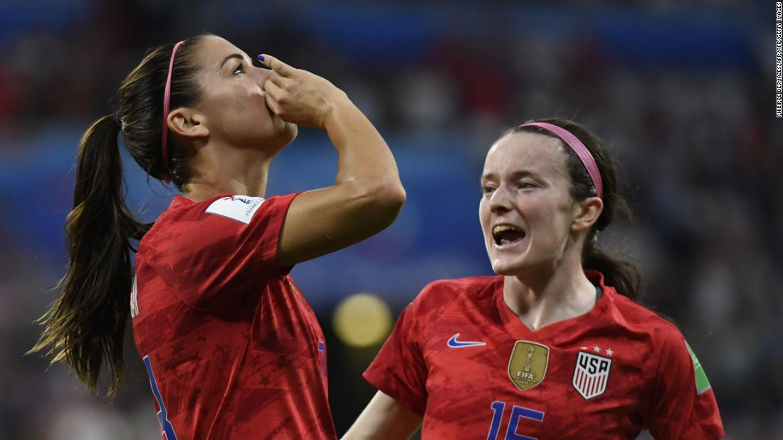 Women's World Cup: Alex Morgan divides opinion with tea-drinking celebration