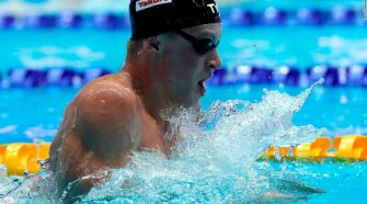 Swimmer Adam Peaty just smashed the world record for the men's 100-meter breaststroke