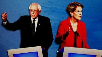 It's Bernie Sanders and Elizabeth Warren Against the World