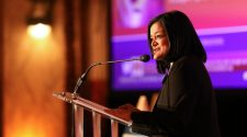 Rep. Pramila Jayapal speaks at the Freinds of National Service Awards, February 13, 2018.