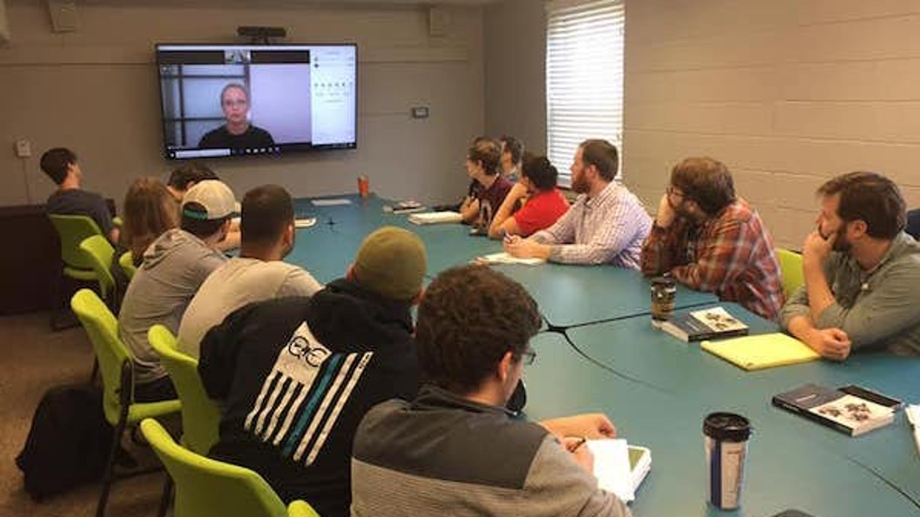 APSU history students use video-conferencing technology to connect with prominent authors across the U.S.