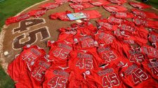 Angels place no-hitter ball in Skaggs' locker