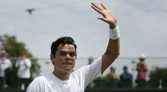 Just this once, maybe things are breaking right for Milos Raonic, tennis's unluckiest guy