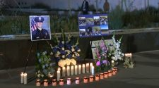 Vigil held for 24-year-old LAPD officer Juan Diaz killed while off duty in Lincoln Heights shooting