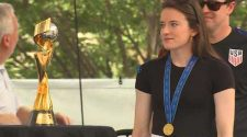 World Cup star Rose Lavelle receives hero's welcome in Cincinnati