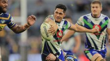 Roger Tuivasa-Sheck was denied a matchwinning try assist. Picture: Getty Images