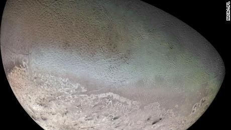 Neptune's largest moon, Triton, surprised scietists with its active surface.