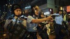 Hong Kong Police Fire Warning Shot During Night Of Violent Clashes With Protesters : NPR