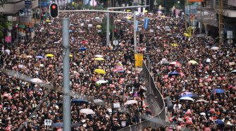 Mainland Chinese Sneak Into Hong Kong's Protests—to Support the Cause
