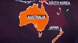 New Zealand mistaken for Japan in map mistake Jacinda Ardern