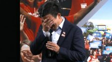 Andrew Yang breaks down in tears at gun safety town hall: 'I have a three- and six-year-old boy, and I was imagining...'