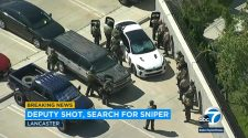 Gunman still on loose after sheriff's deputy wounded in shoulder at Lancaster station