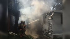 Mobile home has severe damage because of fire