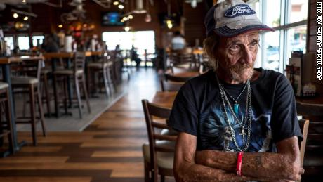 Antonio Basco sits inside a restaurant as he recounts his life with his wife Margie Reckard, 63, who was killed in the Aug. 3 mass shooting in El Paso, in El Paso, Texas, Wednesday, Aug. 14, 2019.