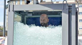 Josef Koeberl in ice: Austrian man breaks world record for longest time spent submerged in ice today