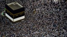 Mulism pilgrims gather around the Kaaba, Islam's holiest shrine, at the Grand Mosque in Saudi Arabia's holy city of Mecca